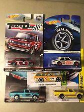 Hot Wheels  2 Cars Datsun Bluebird 510 1 Wagon 2 Truck 620  Lot Of 5 Japan Cars