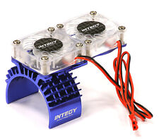 Integy Motor Heatsink + Twin Cooling Fan for Traxxas 1/10 Slash 4X4 T8534BLUE