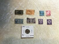 1888 1902 1925 1926 USA Stamps Lot  Special Delivery COIN Silver WW2 10C 1941