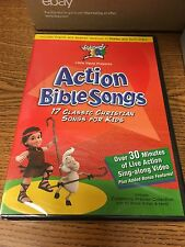 Cedarmont Kids Action Bible Songs DVD 17 Classic Christian Songs for Kids New