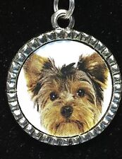 "Dog Yorkshire Terrier Charm Tibetan Silver with 18"" Necklace"