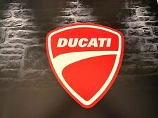 Enseigne Plaque Décoration Garage Moto DUCATI _50 cm x 47cm_PVC 5 mm