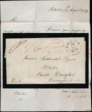 La Scozia 1834 Perth ora Doppio Anello pagato LIDDERDALE Castle DOUGLAS Lettera