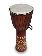 DJEMBE/Bongo/Tamburi, Pelle di capra. legno duro. commercio equo e solidale (60cm) alta e intagliato
