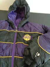 LOS ANGELES LAKERS Pro Player VINTAGE Reversible Puffer Youth LARGE Jacket NBA