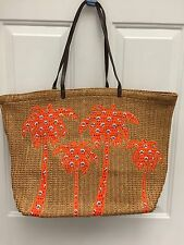 NWT Vera Bradley Large Straw Tote- Perfect Beach Bag -  RETAIL $68.00