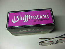 Vintage 1984 Bluffinition The Creative Word Game Bluff To Win