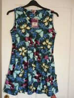 JOE BROWNS CRAZY BUTTERFLY TUNIC TOP BLUE MULTI. UK 14, EUR 40-42, US 10. BNWT