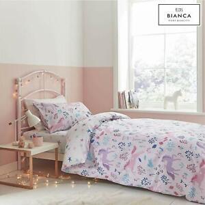 Bianca Children's Woodland Unicorn & Stars 100% Cotton Pink Duvet Cover Set