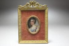 Antique Miniature Portrait Painting.