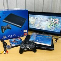 Boxed Sony Playstation 3 PS3 12GB Super Slim Console Bundle  *Tested* VGC