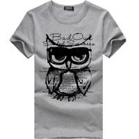 Personality Mens Slim T-Shirt Short Sleeve Casual Shirts Tops Blouse T-Shirt