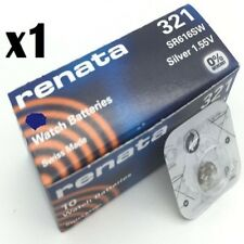 Renata Watch Batteries x1 Made Cell Button Silver-Oxide 1.55v 321 SR616SW V321