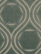 POLLACK CONTEMPORARY & MODERN GEOMETRIC CUT VELVET FABRIC 10 YARDS JADE