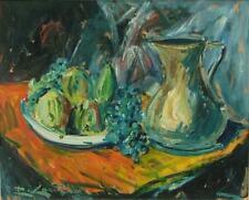 Rocco CARVELLI (1930) HsP Expressionnisme  Olio tavola Espressionismo
