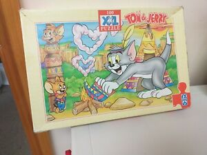 VINTAGE...JIGSAW PUZZLE...TOM AND JERRY...XXL PUZZLE..SCHMID..1997...100 PIECE
