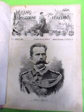 MILANO E L'ESPOSIZIONE ITALIANA.40 FASCICOLI RILEGATI. TREVES.1881