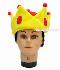 Yellow Red Prince King Princess Crown Warm Head Halloween Party Costume Hat
