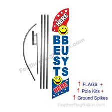 Best Buys Here 15' Feather Banner Swooper Flag Kit with pole+spike