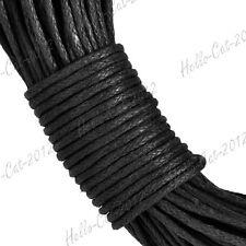 20M Waxed Cotton Cord String Thread Beading Leathercraft Making 1mm Black