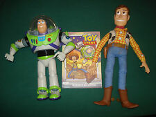 DISNEY PIXAR TOY STORY BUDDIES TALKING WOODY & BUZZ LIGHTYEAR DOLLS