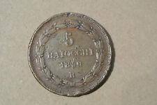 VATICAN PIUS IX 5 BAIOCCHI 1850 R poids 38gr50