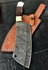 "11.5"" Custom Handmade Damascus Steel Kitchen Chef Cleaver  Professional Knife"