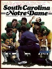College Football Program Notre Dame 1979 Southern Carolina