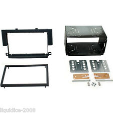 CT23MT03 MITSUBISHI COLT 2004 - 2008 BLACK DOUBLE DIN FASCIA FACIA ADAPTOR KIT