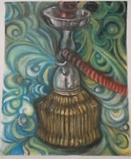 Hookah Drawing with Chalk Pastels