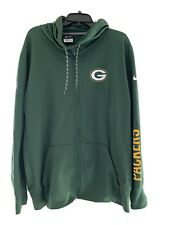 Mens Nike Greenbay Packers Zip Up Jacket Xl