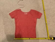 New listing Cw Women's Rose Pink Scoop Neck Short Sleeve Angora Sweater sz M