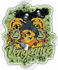 "Vengeance Pirate Boat Flag Hook Gift Car Bumper Vinyl Sticker Decal 4""X5"""