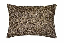 KYLIE MINOGUE SHOWGIRL ROSE GOLD BEADED SATIN 20X28CM FILLED CUSHION