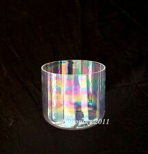 TOPFUND Sexual Chakra D# note Cosmic Light Clear Quartz Crystal Singing Bowl 7""