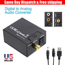 Digital to Analog Converter DAC Digital SPDIF Toslink to 3.5MM L/R Stereo Audio