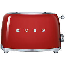 Smeg TSF02 4-Slice 2-Slot Toaster, Red