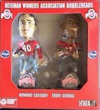"""Eddie George Howard """"Hop"""" Cassady Dual Heisman 5"""" Bobble Heads OSU Buckeyes NIB"""