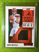 BAKER MAYFIELD JERSEY ROOKIE CARD PRIZM RC  2018 Contenders Rookie Ticket #RTS-1