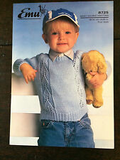 "Emu Knitting  Pattern: Baby, Boys & Girls Sweater, DK, 19-22"", 8725"