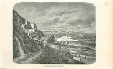 Citadel Citadelle Porte de La Plante Wallonie GRAVURE ANTIQUE OLD PRINT 1880