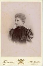 Fabronius, Baronne de Coninck de Merckem, ca.1890, vintage albumen print, carte