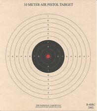 "B-40 [B-32] 10 Meter Air Pistol Target w/ Red Center, 7"" x 8"", on Tagboard (100)"