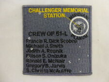"""NASA ARM/HAT PATCH Embroidered 4"""" Mission STS-51L Challenger Memorial Station"""