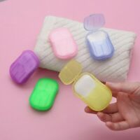 100 Pcs Disposable Boxed Paper Soap Travel Portable Hand Washing Box Scented