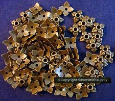 Bead caps 100 pcs antique bronze plated 6-8mm filigree 4 leaf design caps fpb224