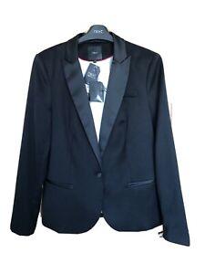NEXT Vintage - Ladies Black Tuxedo Formal Tailored Jacket Satin Lapels Size 14