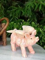 Miniature Dollhouse FAIRY GARDEN Accessories ~ Flying Pig ~ NEW