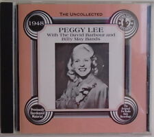 PEGGY LEE - With David Barbour And Billy May Bands  - CD - VERY GOOD cONDITION