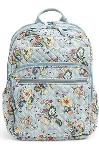 Vera Bradley XL Campus Backpack Floating Garden 26589 R27 Flowers New FREE SHIP